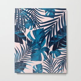 Tropical Jungle Leaves Pattern #6 #tropical #decor #art #society6 Metal Print