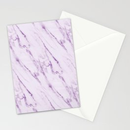 Purple Swirl Marble Stationery Cards