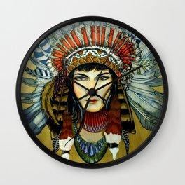 Indian Spirit Girl Wall Clock