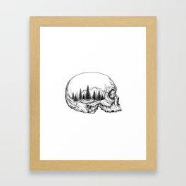 SKULL/FOREST Framed Art Print