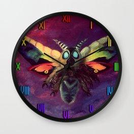 Rainbow Mothra Wall Clock
