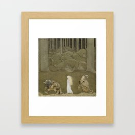 The Princess and the Trolls Framed Art Print