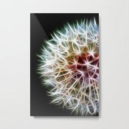 Fractal dandelion Metal Print