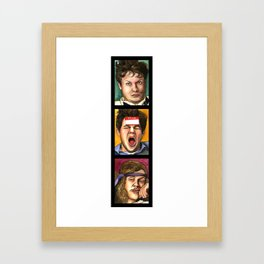 WORKING HUNGOVER BLOWS (vertical series) Framed Art Print