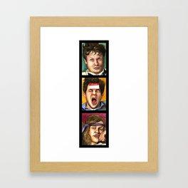 WORKING HUNGOVER BLOWS (vertical series) Framed Art Print
