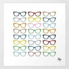 Glasses #3 Art Print