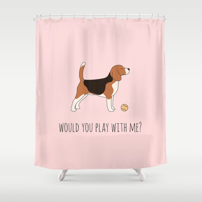 BEAGLE Shower Curtain By Charmartstudio