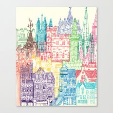 Edinburgh Towers Canvas Print