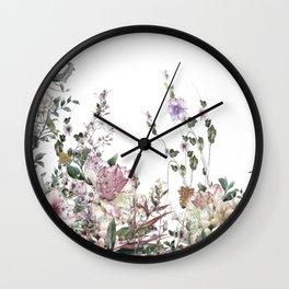 Vintage Field Flowers Wall Clock
