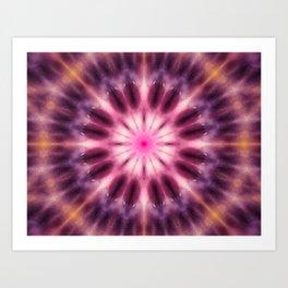 Pink purple mandala art Art Print