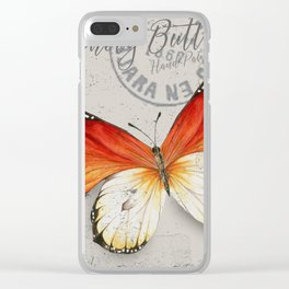 Vintage Butterfly Clear iPhone Case