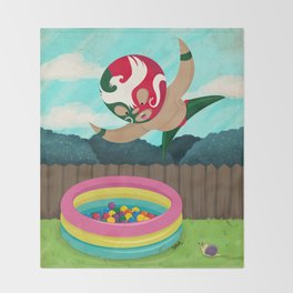 Luchador Throw Blanket