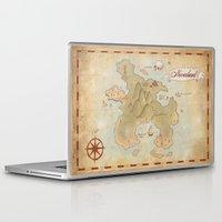neverland Laptop & iPad Skins featuring Map of Neverland by Kaz Palladino
