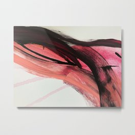 Entangled: a vibrant, colorful, abstract mixed-media piece in pinks and reds Metal Print