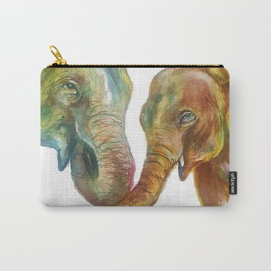 Mommy and Baby Elephant Carry-All Pouch