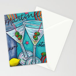 Retro Martini Stationery Cards