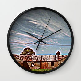 Deserted - HDR Wall Clock