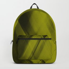 Ice triangular strokes of intersecting crisp lines with yellow triangles and stripes. Backpack