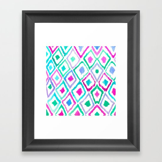 Watercolour Ikat II Framed Art Print