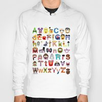 Hoodies featuring Sesame Street Alphabet by Mike Boon