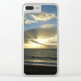 Sunset over Aber Clear iPhone Case