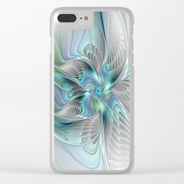Abstract Butterfly, Fantasy Fractal Art Clear iPhone Case