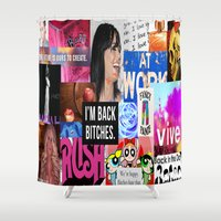 birthday Shower Curtains featuring birthday by Aldo Couture