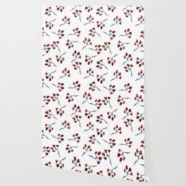 Red berry, Christmas Brier Spray Wallpaper