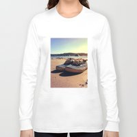vans Long Sleeve T-shirts featuring Beached Vans by Pretty In Palms Designs