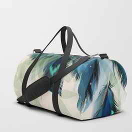 Beautiful Peacock Feathers Duffle Bag