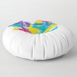 Colorful Rainbow Flag Cute Butterfly Floor Pillow