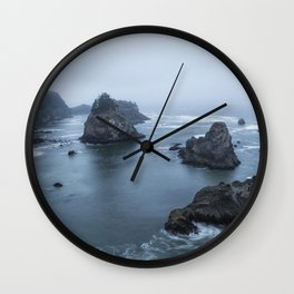 Between Dawn and Sunrise at Arch Rock Picnic Area, No. 2 Wall Clock
