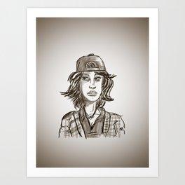 Hypebeast with Braces as a Girl Art Print