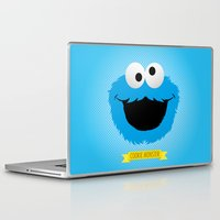cookie monster Laptop & iPad Skins featuring C FOR COOKIE MONSTER by Emils Blums