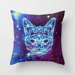 Galactic Kitten Throw Pillow