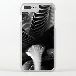Haworthia B&W Clear iPhone Case