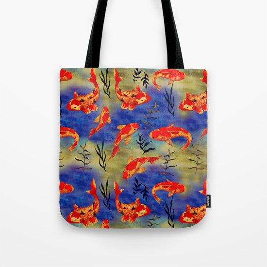 The deep water- koi fishes - watercolor Tote Bag