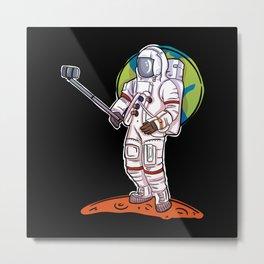 Space Astronaut Photograph on Mars Metal Print