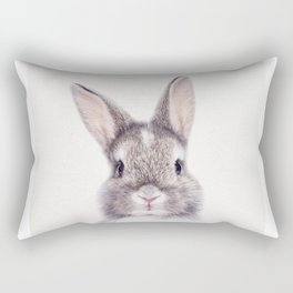 Baby Bunny, Baby Animals Art Print By Synplus Rectangular Pillow