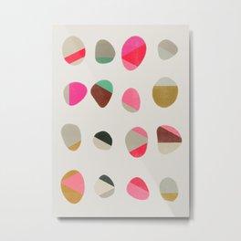 painted pebbles 1 Metal Print