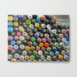 SPRAY CANS 2 Metal Print