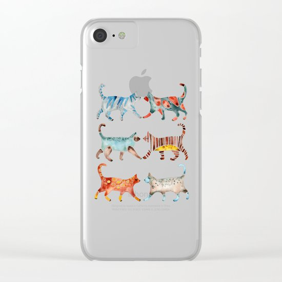 Cat Collection: Watercolor Clear iPhone Case