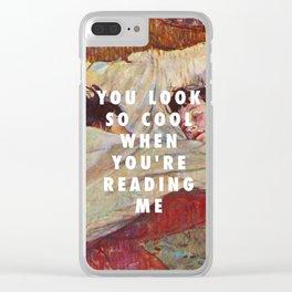 Henri de Toulouse-Lautrec, The bed (1893) / Halsey, Trouble (2014) Clear iPhone Case