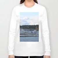 vancouver Long Sleeve T-shirts featuring Vancouver Harbour by RMK Creative