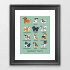 NORDIC DOGS Framed Art Print