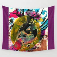 woody Wall Tapestries featuring Woody  - Quirky Bird Series by Hyla Zest