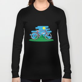 Cycling Forever | Bicycle Enthusiast Long Sleeve T-shirt