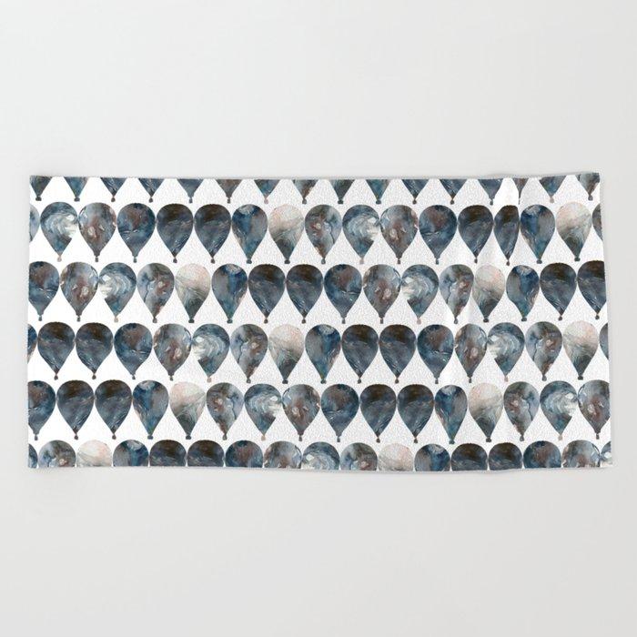 Hot Air Balloons Pattern Beach Towel