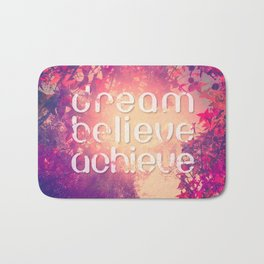 Autumn Sunshine and Pink Purple Maple Trees Bath Mat