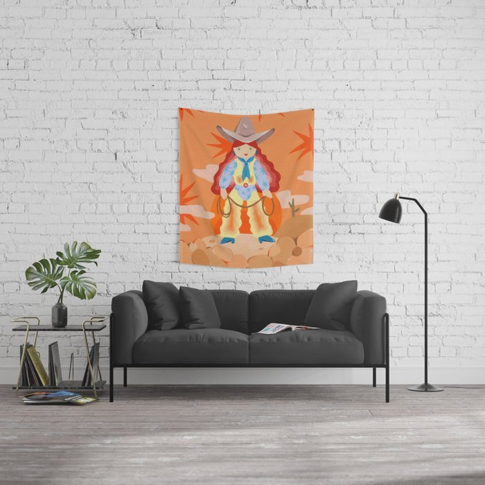 Space Cowgirl Wall Tapestry